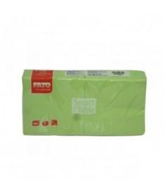 Tovaglioli 25x25 conf. 100pz colorato Verde