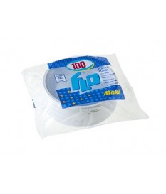 Piatti di plastica fondi 100pz